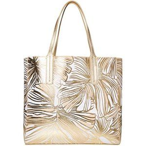 Lilly Pulitzer Surrey Reversible Tote - Gold - NEW